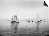 Sailboats Waiting to Race Art by Ray Krantz