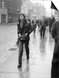 Rolling Stones' Mick Jagger Leaving the Court of Appeal After Listening to Evidence on Brian Jones Print
