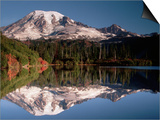 Mount Rainier Reflected in Bench Lake Print by John McAnulty