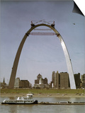 St Louis Arch Undergoing Construction Poster