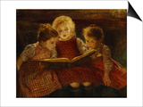 A Good Book Print by Walter Firle