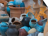 Pottery on the Street in Cappadoccia, Turkey Art by Darrell Gulin