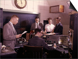 1960s Disc Jockeys in Radio Station Control Room Prints