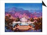 The Broadmoor, Colorado Springs Affiches par Maxfield Parrish