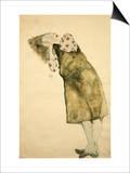 Sleeping Girl Posters by Egon Schiele