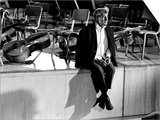 Composer Leonard Bernstein at Fairfield Hall During 1966 Rehearsal Concert Prints