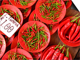 Peppers for Sale in Market, Kuching, Sarawak, Borneo, Malaysia Posters by Jay Sturdevant