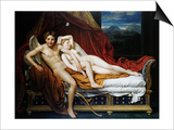 Cupid and Psyche Art by Jacques-Louis David