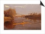 Max Schmitt dans un aviron simple Poster par Thomas Cowperthwait Eakins