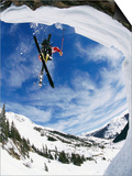 Skier Performing Jump Print by Doug Berry