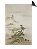 View of Trees Along the Riverbank from Eight Views of the Xiao and Xiang Rivers Prints by  Shokei