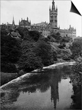 Views Glasgow University with the River Kelvin Flowing Alongside Posters