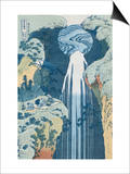 Amida Waterfall on the Kiso Highway from the Series To the Waterfalls of All the Provinces Kunstdrucke von Katsushika Hokusai