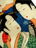 Female Figures on Silk, Japanese Silk Art, Japan Posters af Cindy Miller Hopkins
