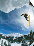 Snowboarder Performing Jump Prints by Doug Berry