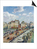 The Pont-Neuf, Paris Print by Camille Pissarro
