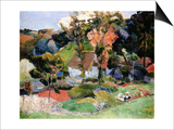 Landscape at Pont-Aven Prints by Paul Gauguin