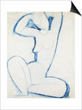 Blue Caryatid II Prints by Amedeo Modigliani