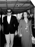 Elizabeth Taylor and Richard Burton at Heathrow Airport, September 1970 Prints