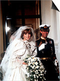 Wedding of Prince Charles and Lady Diana Spencer Arriving at Buckingham Palace July 1981 Kunst