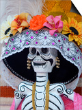 Skeleton on Day of the Dead Festival, San Miguel De Allende, Mexico Poster by Nancy Rotenberg