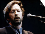 Eric Clapton Rock Guitarist on Stage Prints