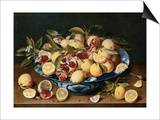 Still Life of Lemons, Oranges, and Pomegranates Kunstdrucke von Jacob van Hulsdonck