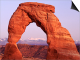 Delicate Arch and Surrounding Mountains Posters by ML Sinibaldi