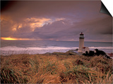North Head Lighthouse at Sunset, Fort Canby State Park, Washington, USA Prints by Brent Bergherm