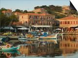 Fishing Port, Lesvos, Mithymna, Northeastern Aegean Islands, Greece Print by Walter Bibikow