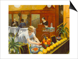 Tables pour dames Posters par Edward Hopper