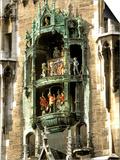 Glockenspiel Details, Marienplatz, Munich, Germany Prints by Adam Jones