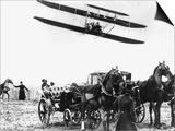 Wilbur Wright with His Plane in Flight at Pau in France, February 1909 Prints