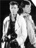 David Bowie with Mick Jagger Performing Their Hit Single Dancing in the Streets Poster