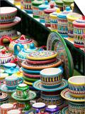 Ceramic Souvenirs, Positano, Amalfi Coast, Campania, Italy Art by Walter Bibikow