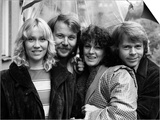 Abba Swedish Pop Band in the Studio, April 1974 Poster