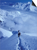 Mountain Climbing on Denali, Alaska, USA Prints by Lee Kopfler