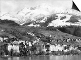 View of Montreux, on Lake Geneva, Switzerland, January 1959 Prints