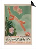 Summer Resort Travel Poster Prints