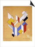 The Construction of Space - Time III Prints by Theo Van Doesburg