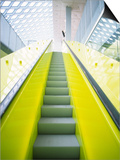 Colorful Escalator in the Central Library, Seattle, Washington, USA Poster by Charles Crust