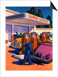 Oil Series: Full-Service Gas Station Posters