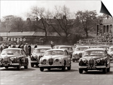 Saloon Car Race at the International '200' Meeting at Aintree, Jaguar S-Type Saloon Car, April 1961 Posters
