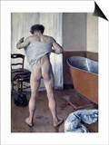 Man at His Bath Poster by Gustave Caillebotte