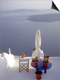 View of Water, Santorini, Greece Print by Connie Ricca