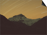 Mt. Everest with Stars, Tibet Poster by Vassi Koutsaftis