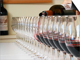Row of Glasses for Tasting, Chateau Baron Pichon Longueville, Pauillac, Medoc, Bordeaux, France Prints by Per Karlsson