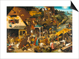 Die Niederlaendlischen Sprichwoerter Kunstdrucke von Pieter Bruegel the Elder