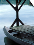 Canoe Docked in Morning Light Prints by Gayle Harper