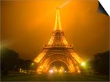 Eiffel Tower Illuminated at Night, Paris, France Art by Jim Zuckerman
